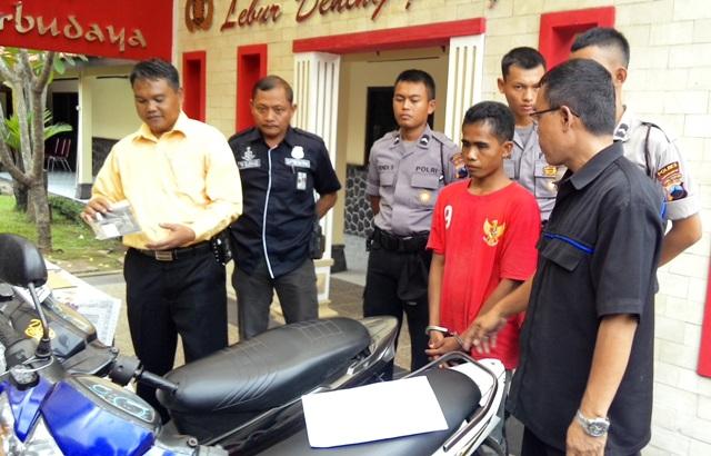 Pencurian Karanganyar Polisi Bekuk Pencuri Sepeda Motor Taman Pancasila Kab