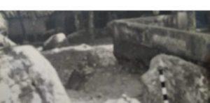 Situs Plosorejo Matesih Berupa Batu Disusun Bentuk Empat Persegi Panjang
