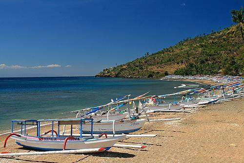 Amed Beach Bali Place Visit Diving Snorkeling Pantai Kab Karangasem