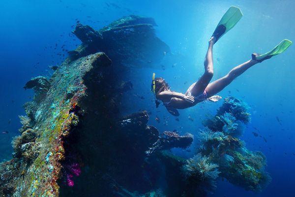 Snorkeling Amed Kiu Tour Travel Diving Pantai Kab Karangasem