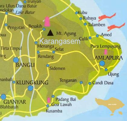 Objek Wisata Kabupaten Karangasem Peta Rumah Pohon Kab