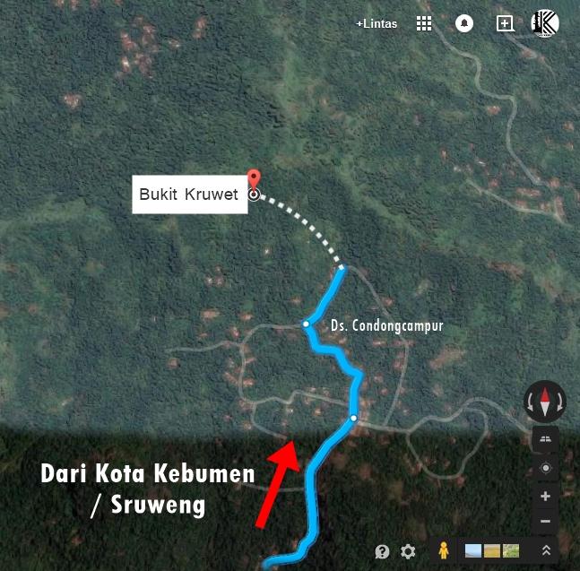 Sunrise Mengagumkam Puncak Bukit Kruwet Lintas Kebumen Peta Rute Langit