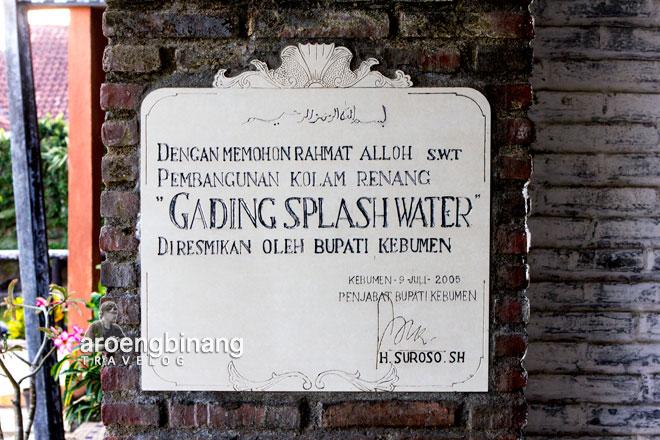 Aroengbinang Gading Splash Water Kebumen Kab