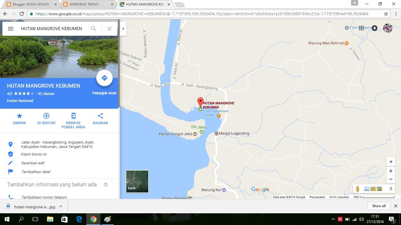 Wisata Hutan Mangrove Pantai Logending Kec Ayah Kab Kebumen Jawa