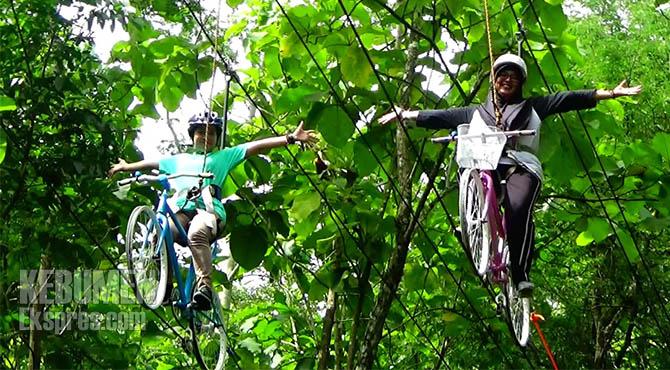 Jap Dilengkapi Sepeda Gantung Siap Uji Nyali Pengunjung Kebumen Kebumenekspres