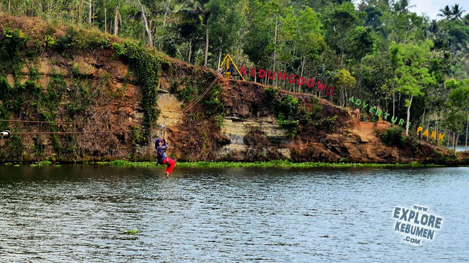 Kedungdowo Adventure Park Wisata Alam Kebumen Explore Flying Fox Jemur