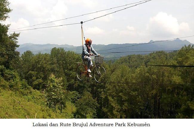 Lokasi Rute Brujul Adventure Park Kebumen Jemur Kab
