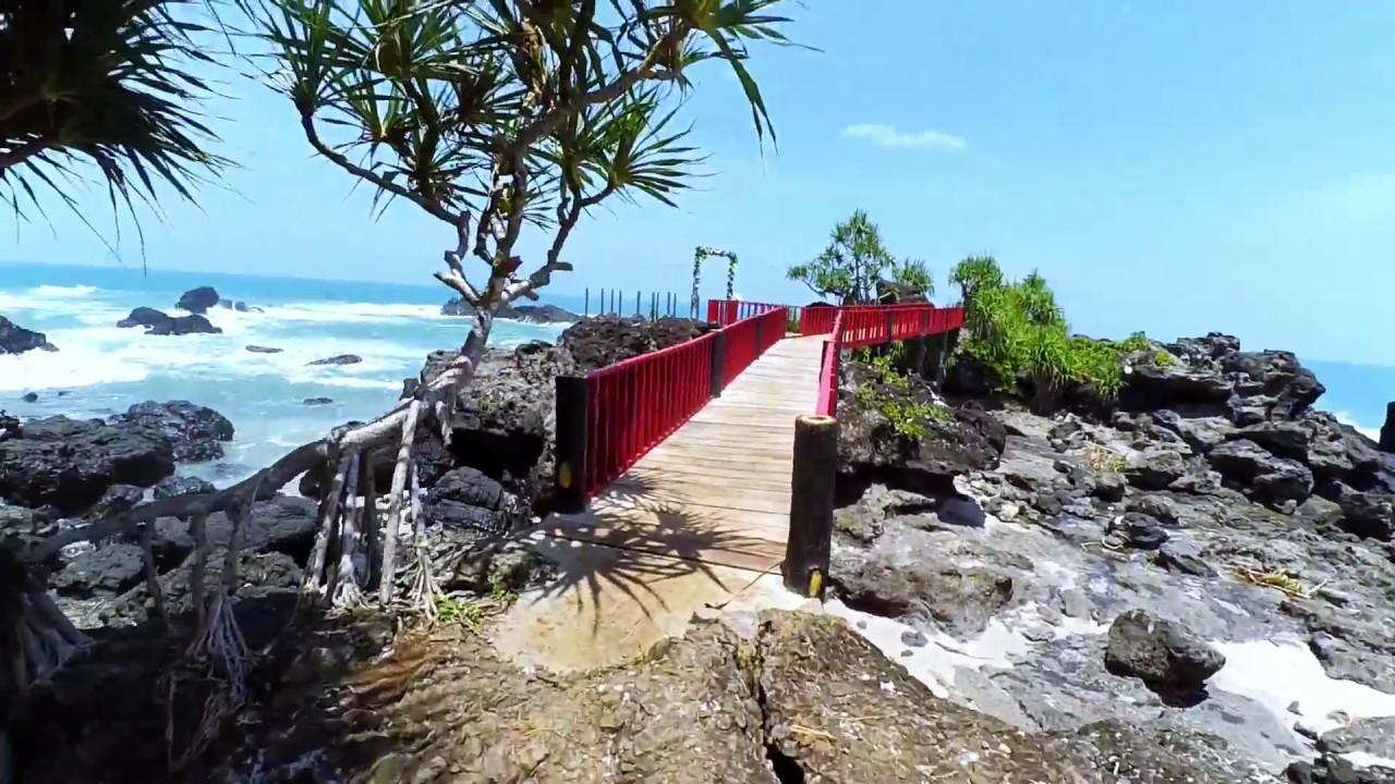 Jembatan Merah Pantai Menganti Kebumen Youtube Gebyuran Kab