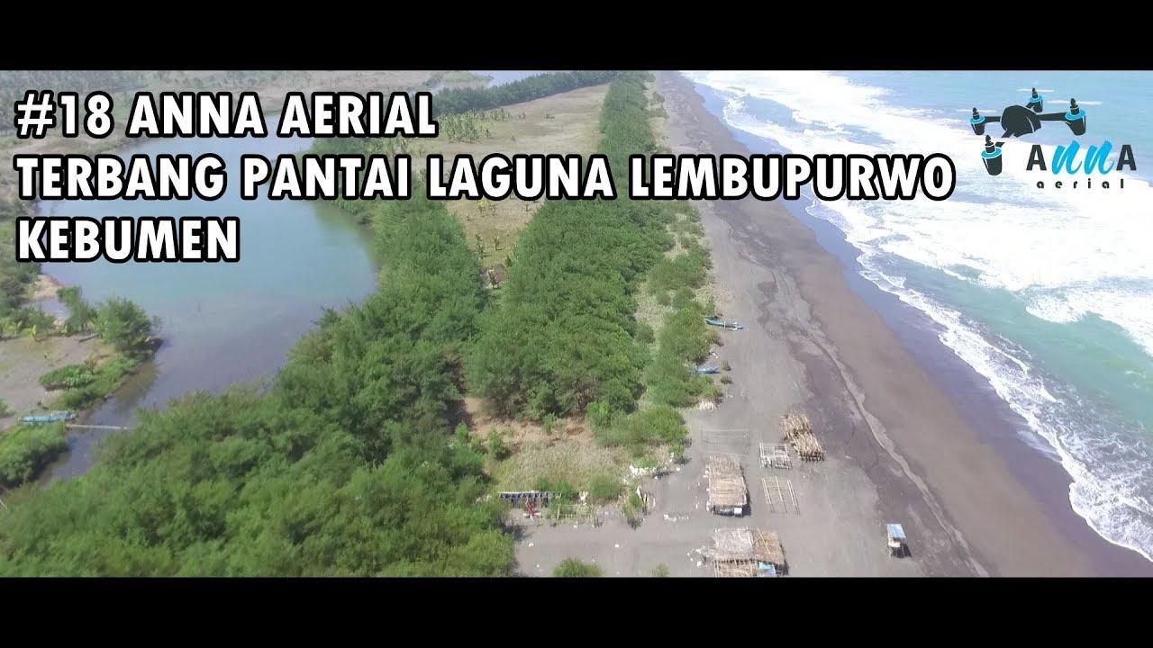 18 Anna Aerial Terbang Pantai Laguna Lembupurwo Kebumen Drone Kab