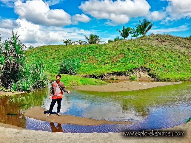 Laguna Tersembunyi Pantai Bopong Puring Kebumen Lilissafitriblog Lembupurwo Kab