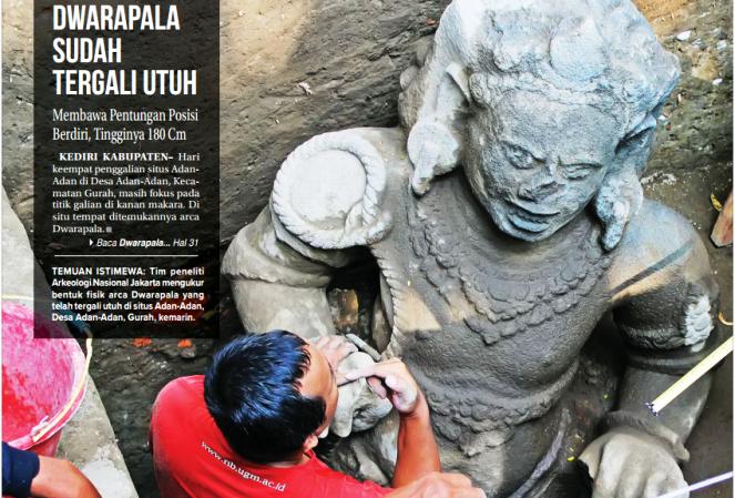 Penelitian Arkeologi Nasional Arca Dwarapala Temuan Istimewa Tim Peneliti Jakarta