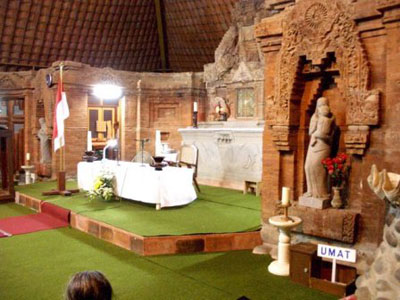 Gereja Puh Sarang Indonesian Altar Puhsarang Kab Kediri