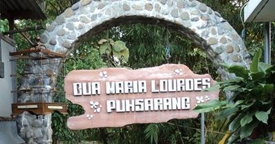 Objek Wisata Gua Maria Lourdes Puhsarang Pohsarang Kab Kediri