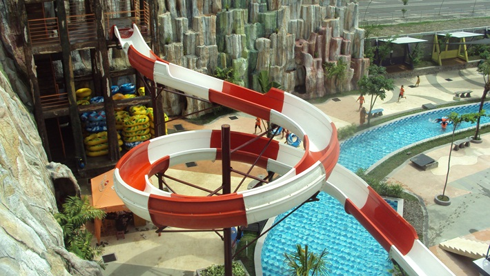Gumul Paradise Island Water Park Body Slide Kab Kediri