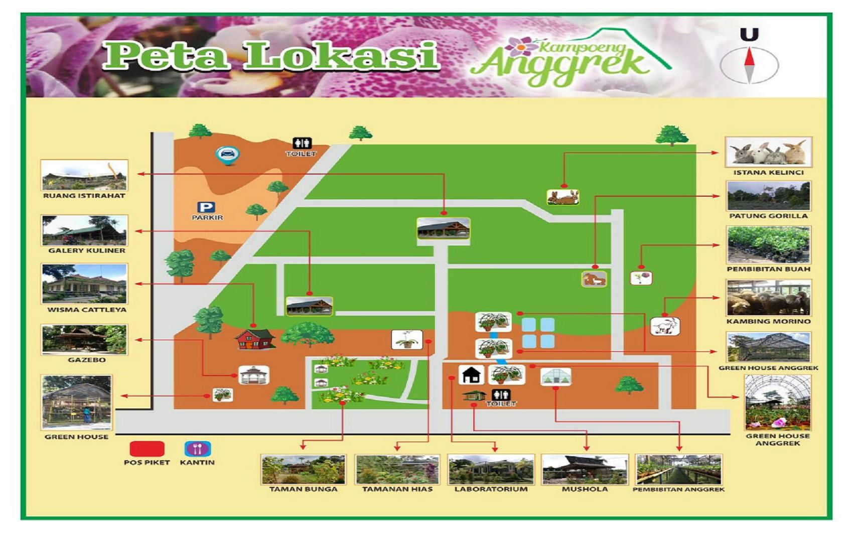 Berkeliling Kampoeng Anggrek Peta Lokasi Istana Jambu Kab Kediri