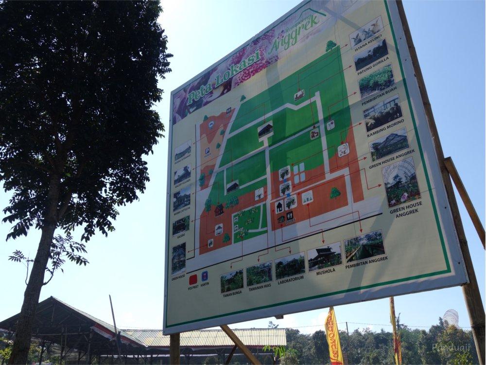 Cantik Kampung Anggrek Kediri Panduaji Net Peta Kab