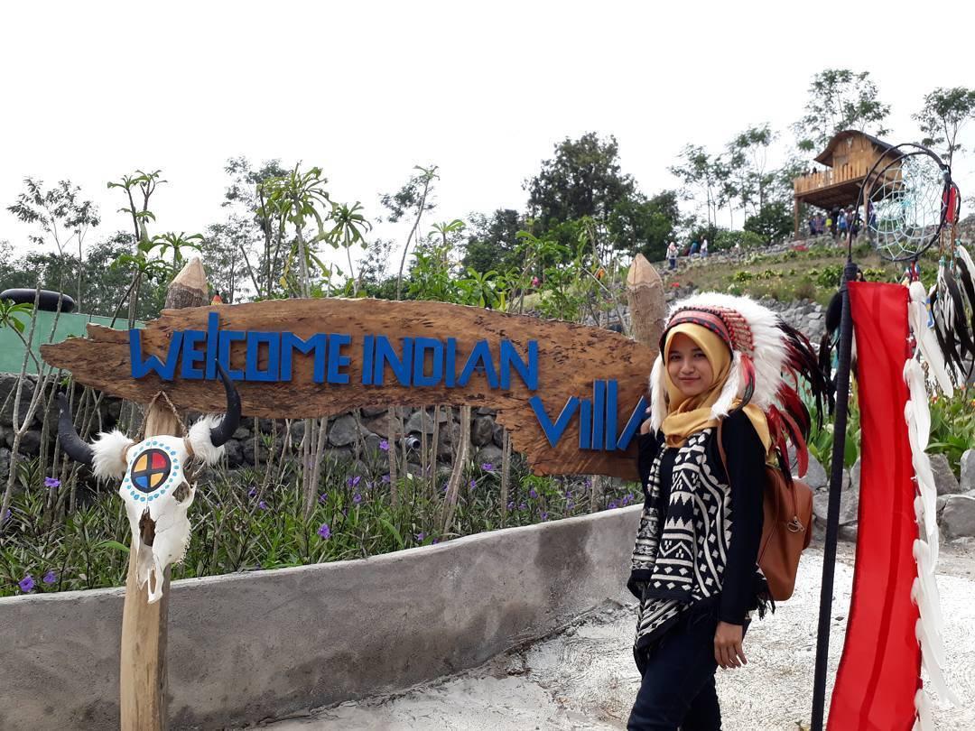 Wisata Kediri Jadi Suku Indian Sehari Traveling Yuk Kampung Village