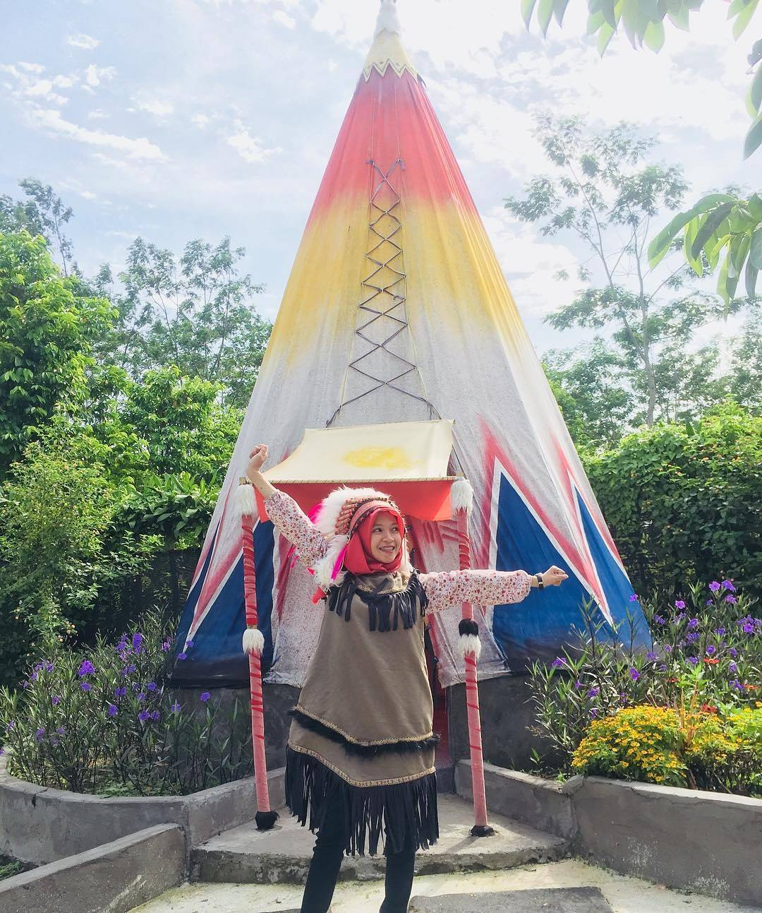Alamat Harga Tiket Masuk Kampung Indian Ngancar Kediri Wisata Kab