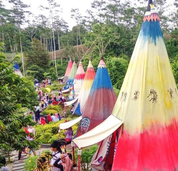 Kampung Indian Ngancar Wisata Kediri Ngehits Info Kab