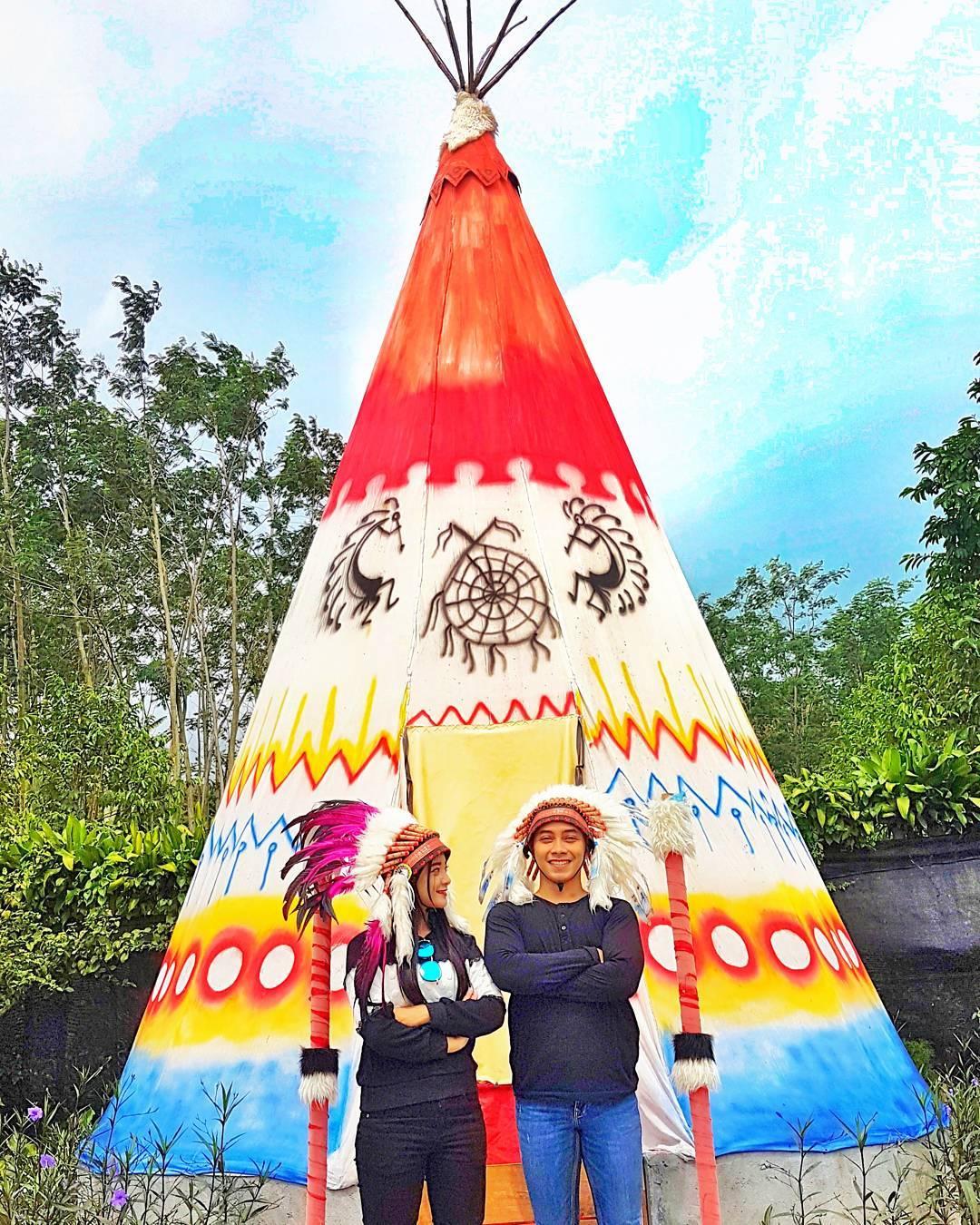 Masuk Lokasi Kampung Indian Kediri Serasa Amerika Broo Tiket Kab