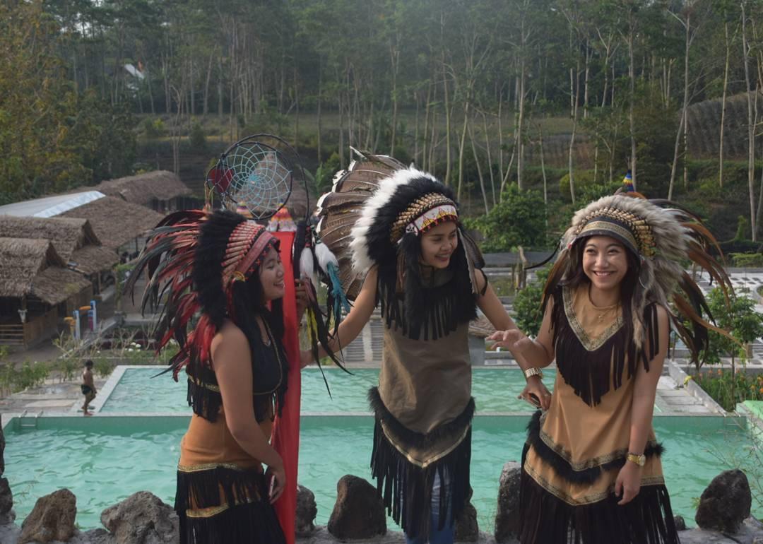 Menikmati Suasana Wisata Berbeda Kampung Indian Langsung Destinasi Bernama Kediri