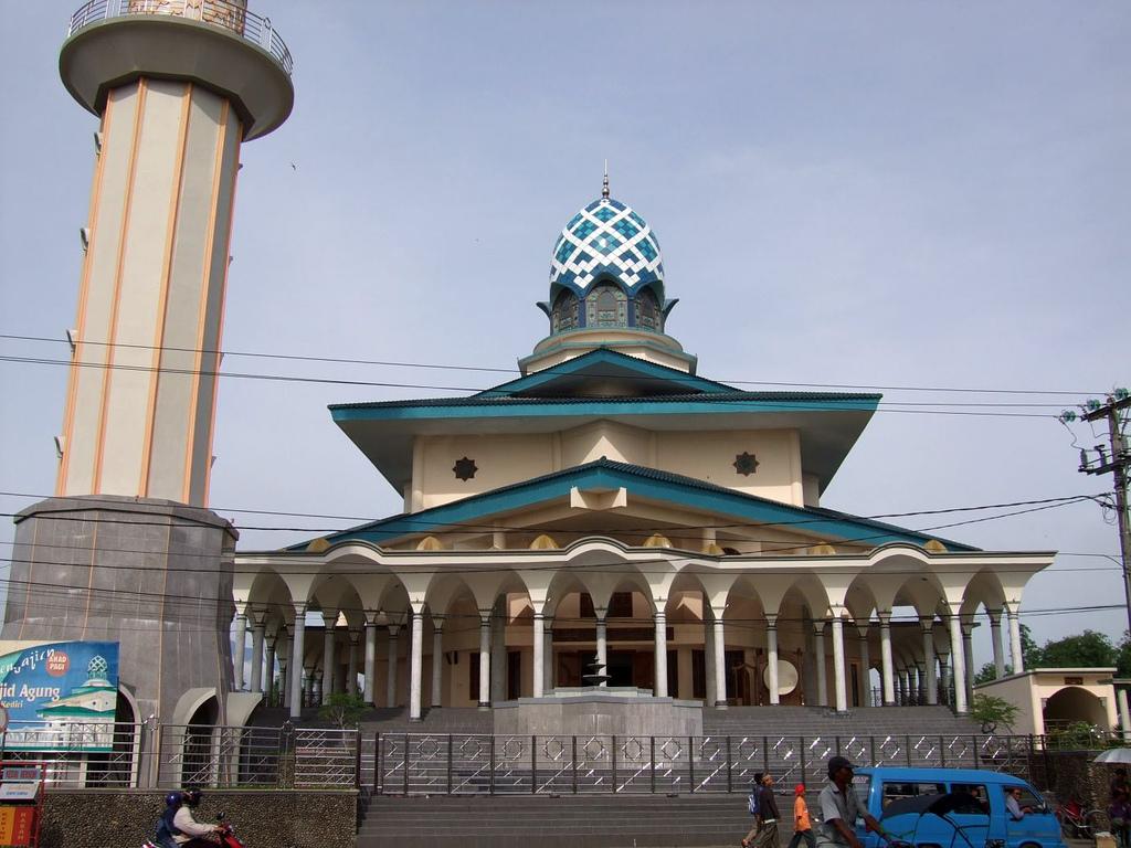 Beautiful Masjid Indonesia Keunikan Keanehan Alam Agung Kediri Kab