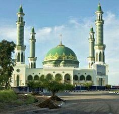 Masjid Agung Kediri Indonesia Beautiful Mosque Sangatta Kalimantan Timur Kab