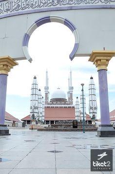 Masjid Agung Kediri Indonesia Beautiful Mosque Semarang Jawa Tengah Kab