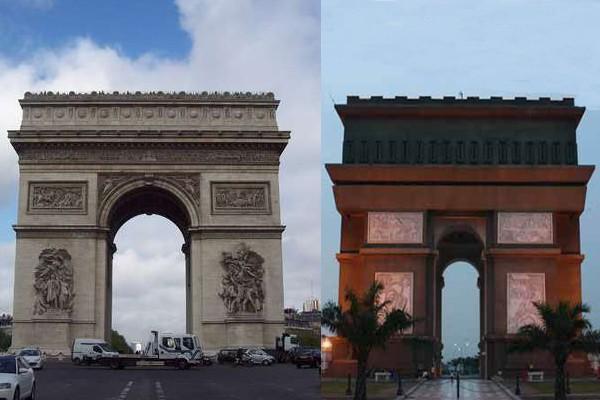 Monumen Arc De Triomphe Paris Pindah Kediri Mirip Bukan Fitraya