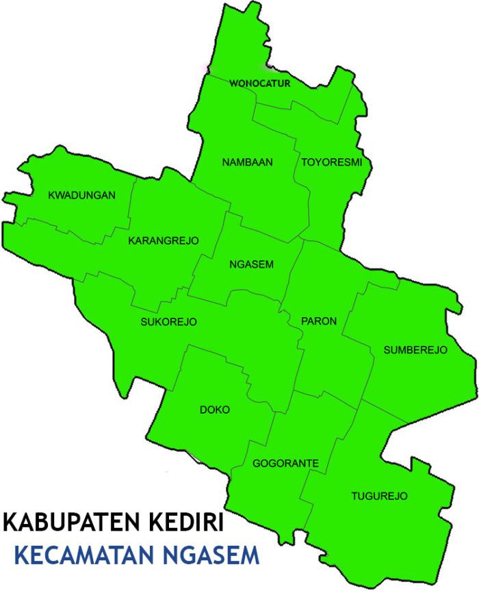 Kecamatan Ngasem Kab Kediri Signoutnow Resmi Terbentuk Sejak 1 Januari