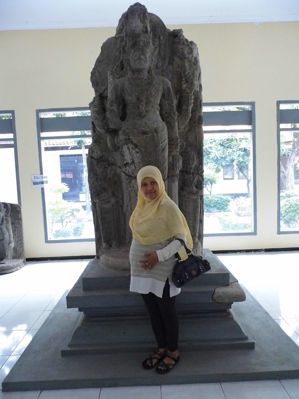 Zulvia Rumaida Mengunjungi Museum Airlangga Wisata Sejarah Kediri Belajar Musium