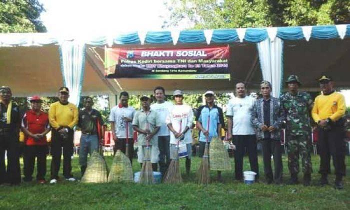 Sambut Hut Bhayangkara 69 Polres Kediri Gelar Baksos Sendang Tirtakamandanu