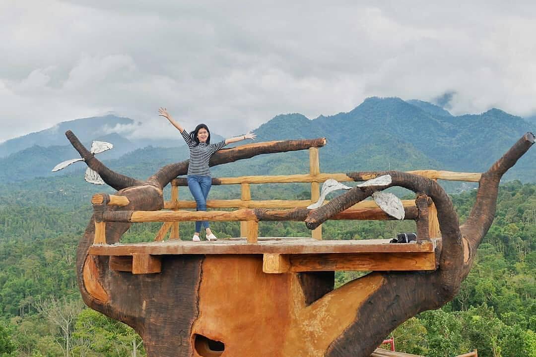 Rute Lokasi Bukit Gandrung Medowo Kediri Liburs Taman Kelir Kab
