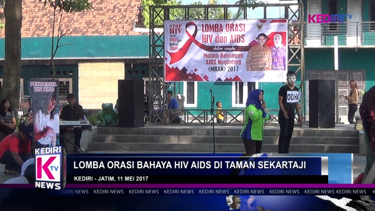 Lomba Orasi Bahaya Hiv Aids Taman Sekartaji Kediri Tv Kab
