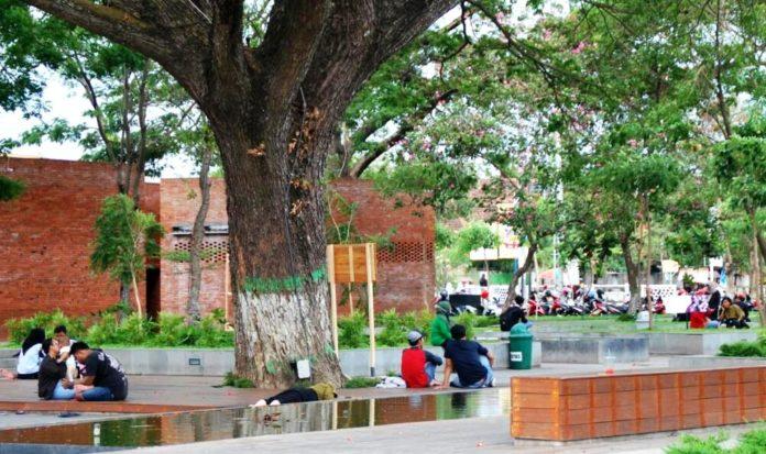 Pemkot Kediri Hadirkan Taman Sekartaji Sebagai Ruang Terbuka Hijau Suasana