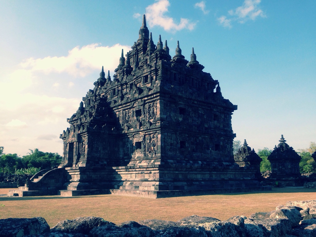 Candi Plaosan Klaten Indonesia Lor North Temple Kab