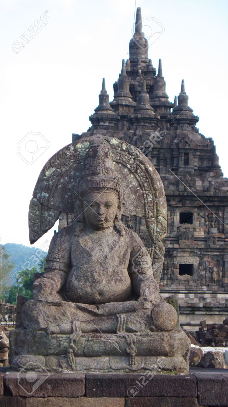 Statue Detail Javanese Buddhist Temple Candi Plaosan Lor Stock Photo