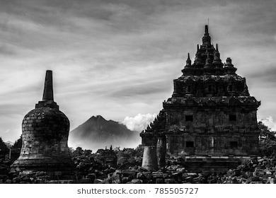 Candi Plaosan Images Stock Photos Vectors Shutterstock Image Gunung Merapi