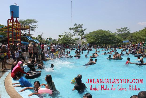 Objek Wisata Mata Air Cokro Tulung Klaten Jalan Yuk Waterpark