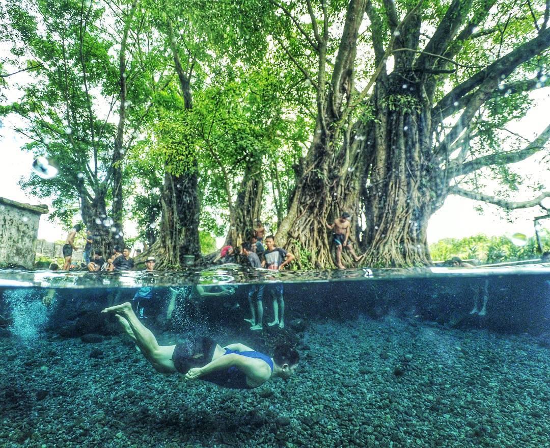Umbul Manten Klaten Lokasi Foto Selfie Underwater Keren Kab