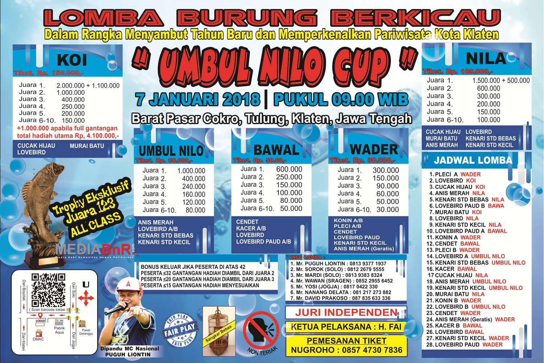 Umbul Nilo Cup Klaten Mediabnr Brosur Lomba Kab