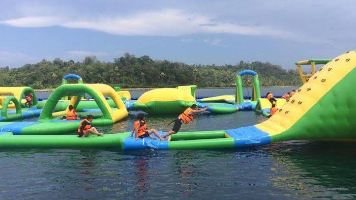Nih Wahana Paradise Water Sports Likupang Taklukkan Tantangan Ala Ninja