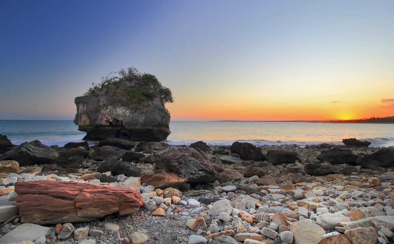 Indonesia Sungguh Indah Senja Pantai Oebali Batu Nona Kupang Kab