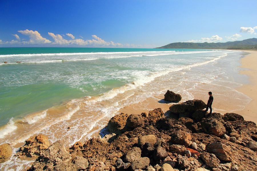 Indonesia Sungguh Indah Sisi Selatan Kupang Pantai Buraen View Batu