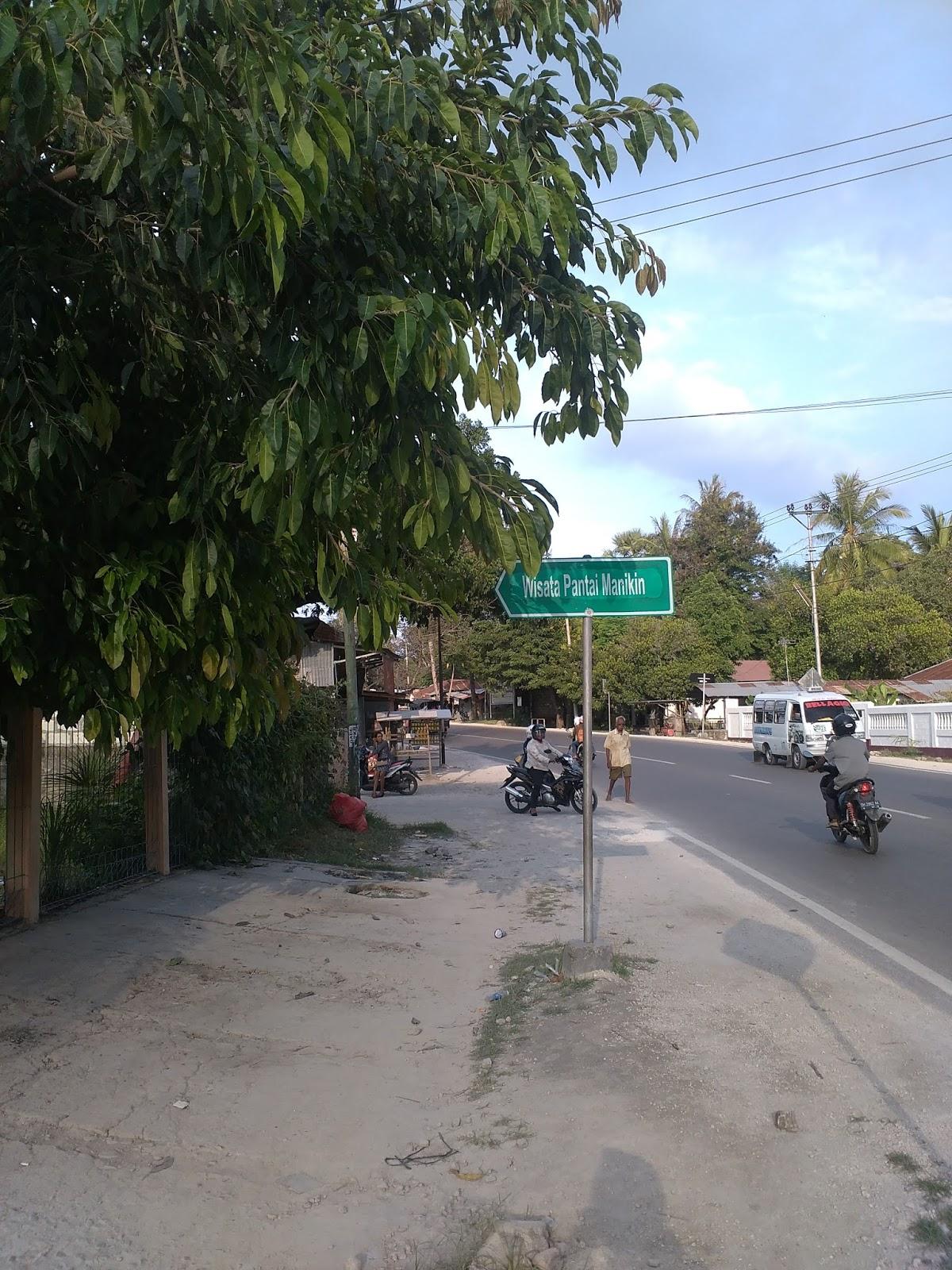 Pantai Manikin Lasiana Batu Nona Setiawan Mangando Gerbang Perbatasan Kota