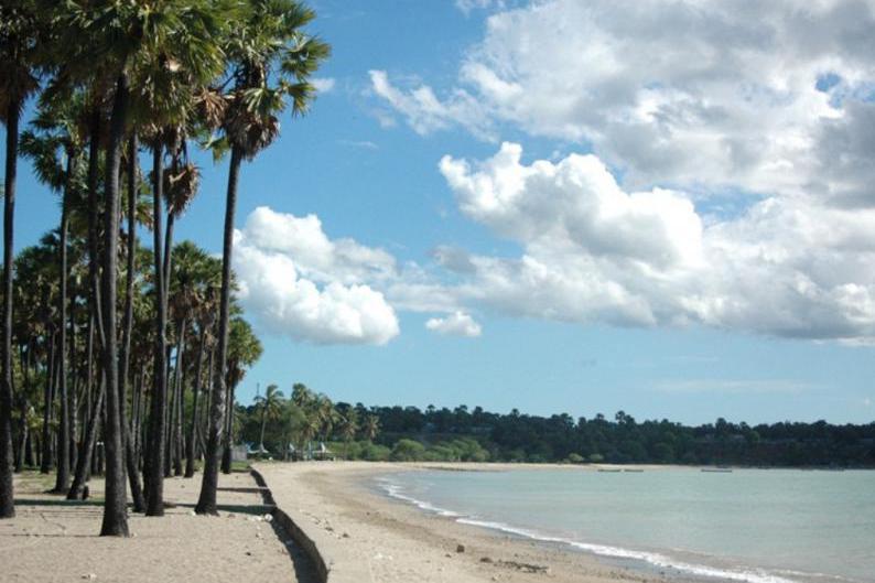Anak Timur Pantai Lasiana Kupang Pasir Putih Karang Keindahan Wisata