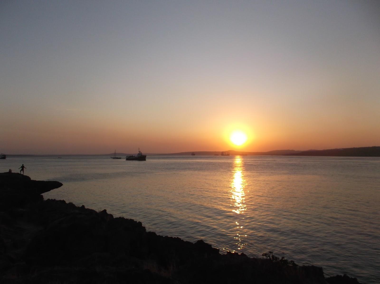 Arianto Ntt Sunset Pantai Kelapa Satu Kota Kupang Ketapang Kab