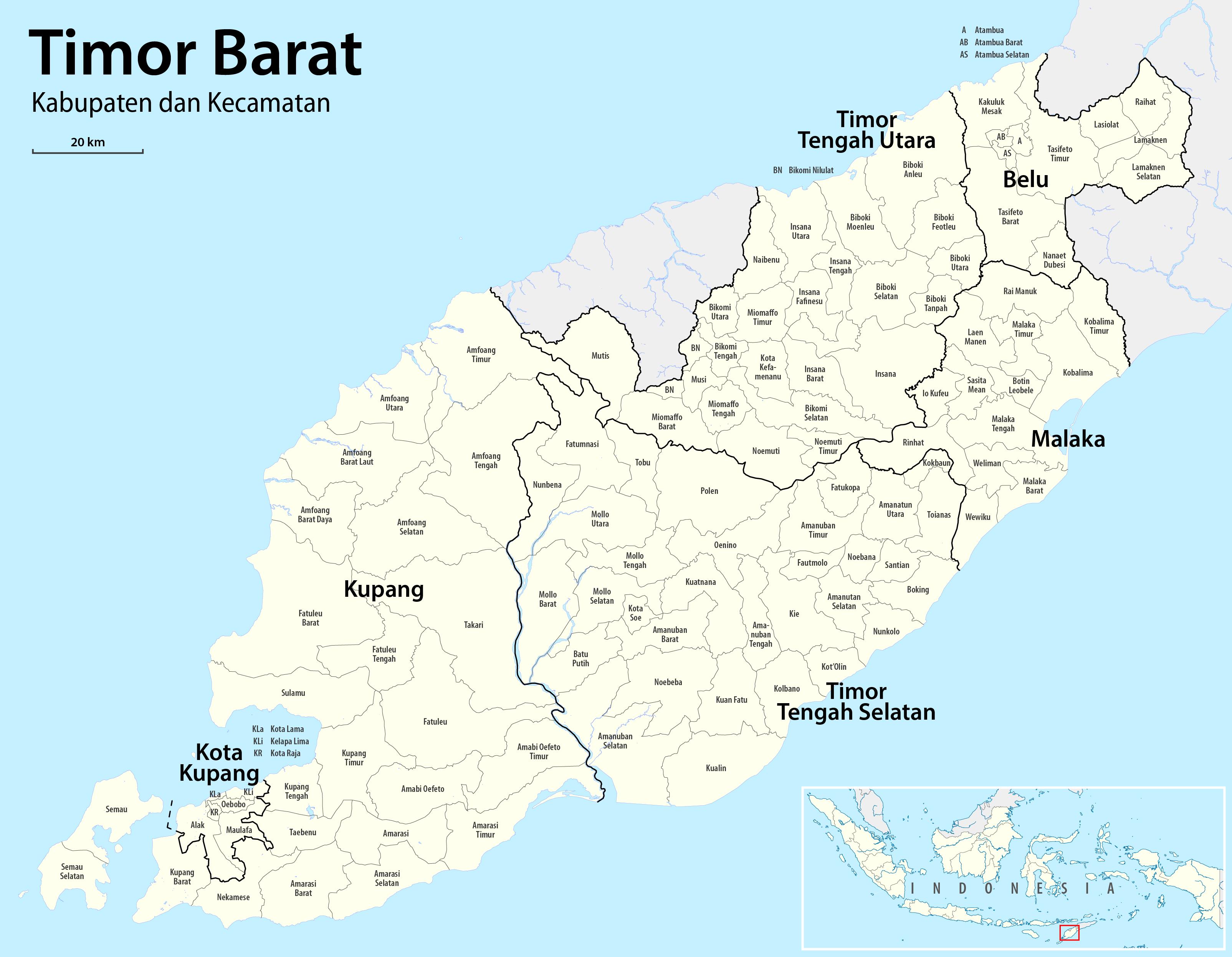 Kota Kupang Wikipedia Bahasa Indonesia Ensiklopedia Bebas Peta Timor Barat