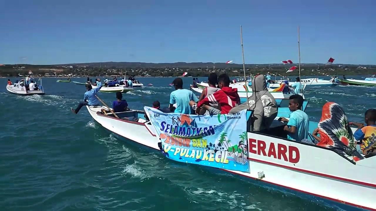 Parade Perahu Pantai Nunsui Kota Kupang Memperingati Hari Bumi Kab