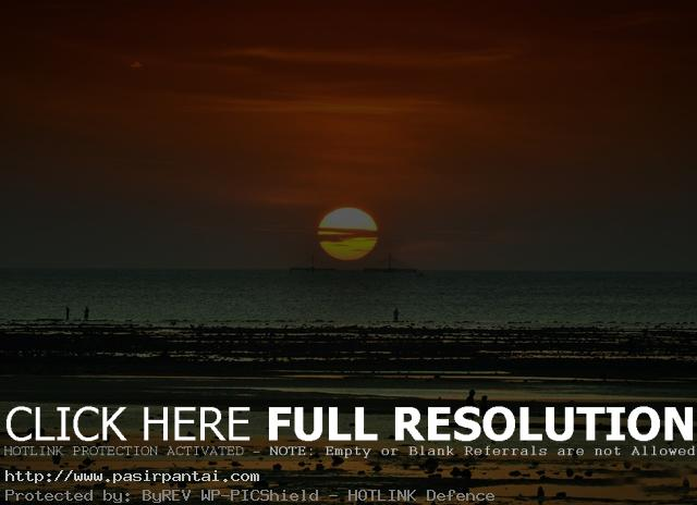 Sunset Pantai Nunsui Pasirpantai Kab Kupang